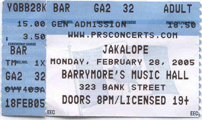 Image:Jakalope at Barrymore?s Ottawa